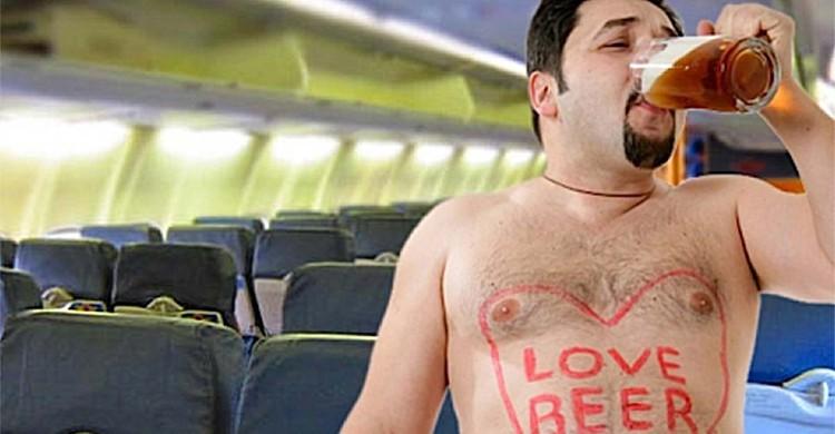 Alcool en avion