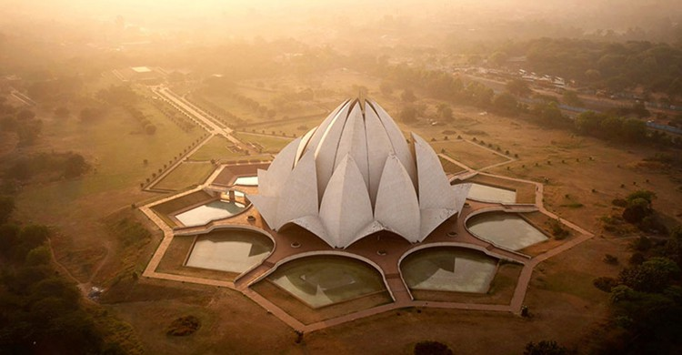 Temple Lotus, Inde