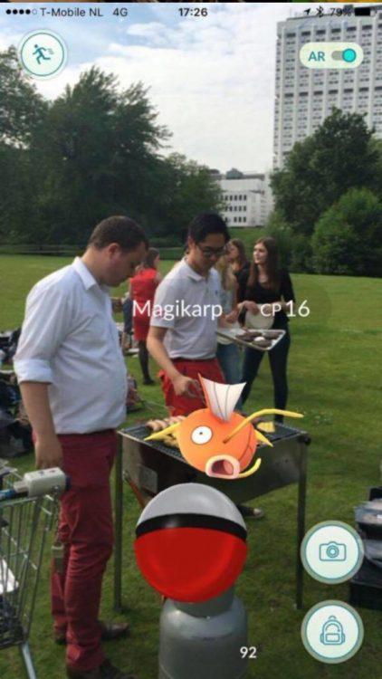 Pokémon sur un barbecue - Magikarp