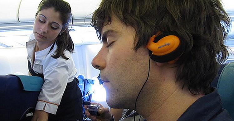 Dormir en avion - flickr