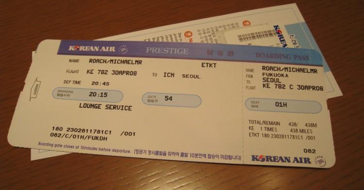 air ticket - flickr