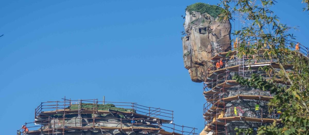 Une avancée fulgurante   Il ne reste plus que quelques mois, mais les travaux vont de bon train ! Pendant que les ouvriers s'activent sur le parc, James Cameron prépare la sortie d'Avatar 2 qui devrait sortir en décembre 2018.   © Parc Avatar Orlando - Disney