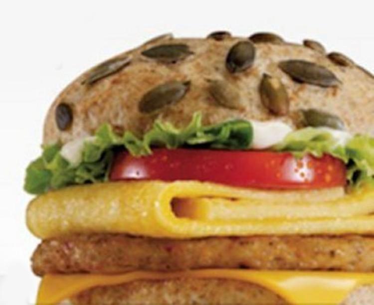 Mc pumpkin omelet sandwich
