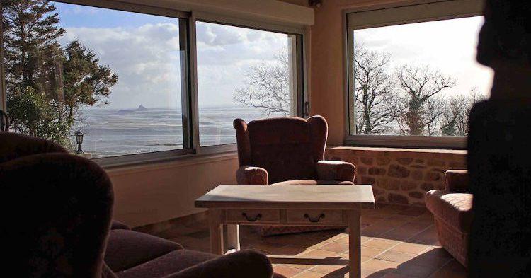 Grande Villa avec vue sur la Baie du Mt St Michel, Champeaux, Basse-Normandie, France, Airbnb