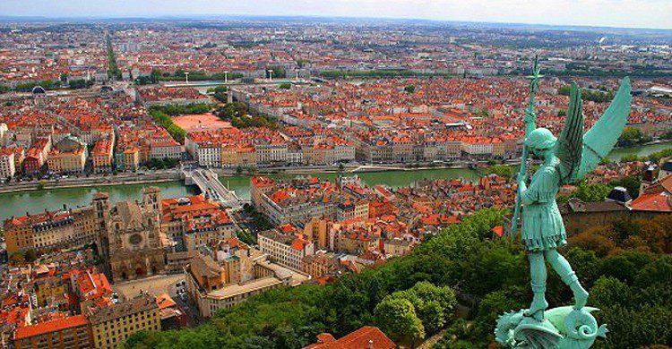 Lyon depuis La Fourvière (Flickr)