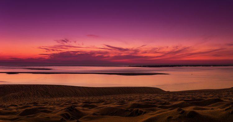 Coucher de Soleil sur la Dune du Pilat, Arcachon (istock)