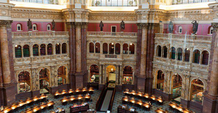 Bibliothèque du Congrès, aux USA (Istock)