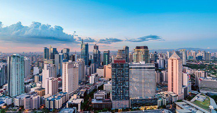 Vue sur la skyline de Manille en Philippines (Istock)